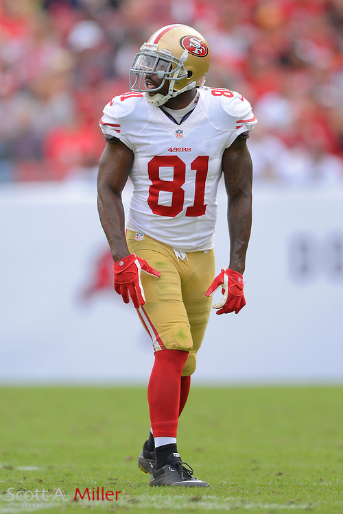 San Francisco 49ers wide receiver Anquan Boldin (81) during an NFL game against the Tampa Bay Buccaneers at Raymond James Stadium on Dec. 15, 2013 in Tampa, Florida. <br /> <br /> &copy;2013 Scott A. Miller