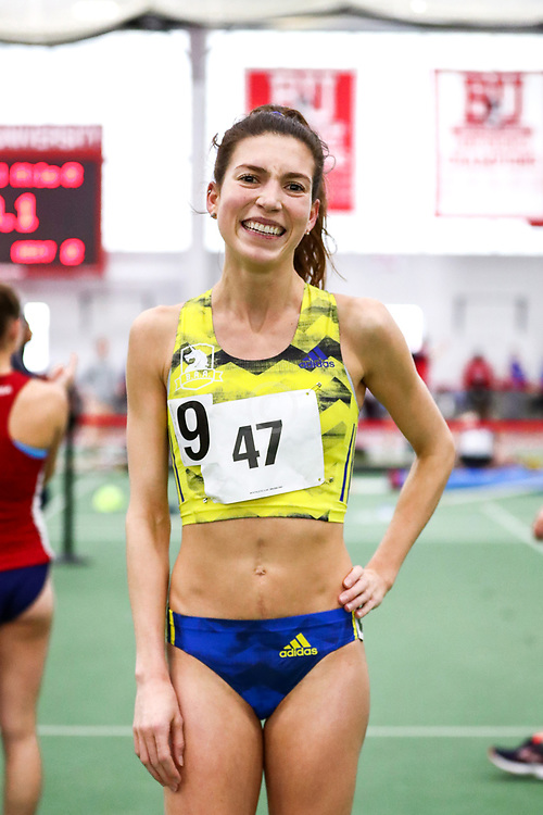 womens One Mile, BAA, adidas, Dana Giordano, <br /> Boston University Scarlet and White<br /> Indoor Track & Field, Bruce LeHane , adidas, BAA,