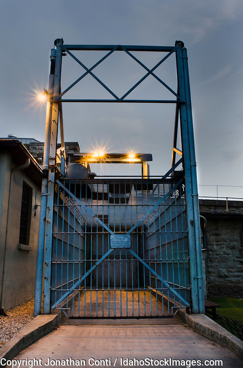 The Old Idaho Penitentiary at dusk