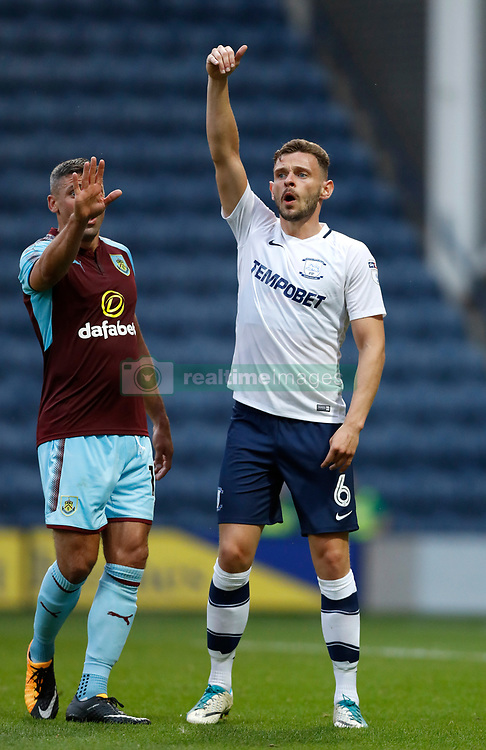 "Preston North End's Andy Boyle (right) and Burnley's Jonathan Walters during the pre-season friendly match at Deepdale, Preston. PRESS ASSOCIATION Photo. Picture date: Tuesday July 25, 2017. See PA story SOCCER Preston. Photo credit should read: Martin Rickett/PA Wire. RESTRICTIONS: EDITORIAL USE ONLY No use with unauthorised audio, video, data, fixture lists, club/league logos or ""live"" services. Online in-match use limited to 75 images, no video emulation. No use in betting, games or single club/league/player publications."