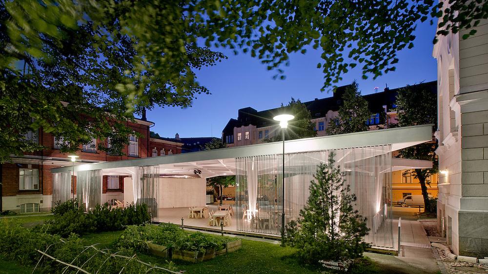 Paviljonki - wooden pavilion for Helsinki world design capital 2012