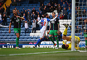 Blackburn Rovers Striker Danny Graham celebrates putting Blackburn 1-0 up during the Sky Bet Championship match between Blackburn Rovers and Bristol City at Ewood Park, Blackburn, England on 23 April 2016. Photo by Pete Burns.