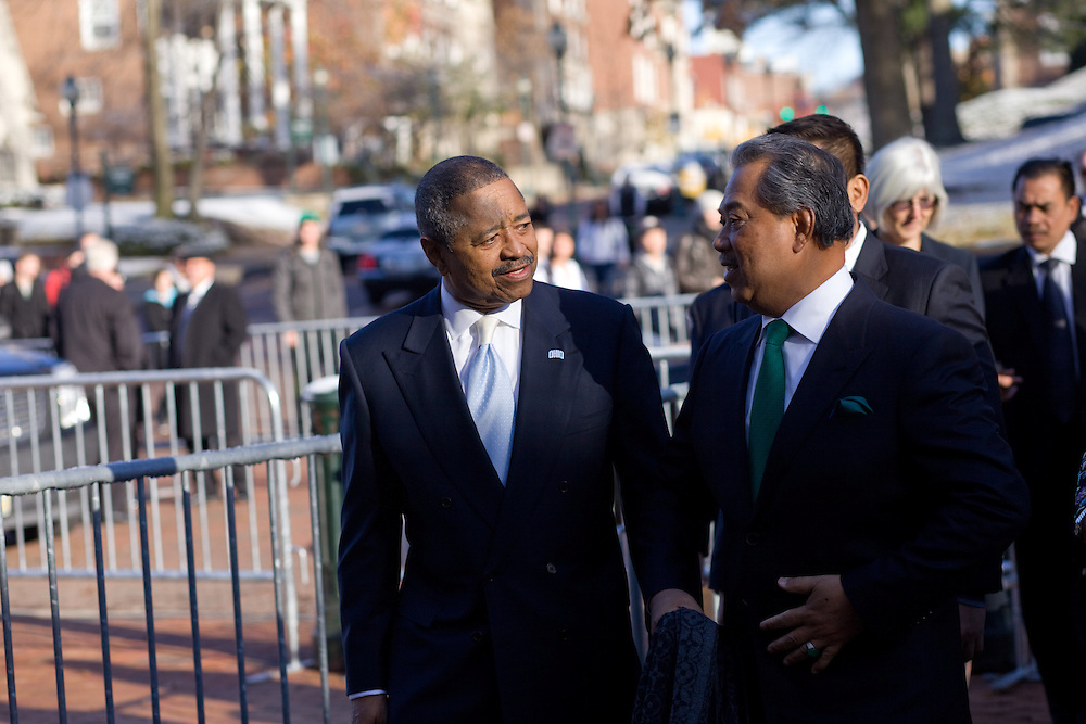 The Deputy Prime Minister of Malaysia, Tan Sri Muhyiddin Yassin, visited campus during International Education Week at Ohio University in Athens, Ohio on Tuesday, November 12, 2013. Photo by Chris Franz