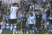 Son Heung-Min applauds the crowd after being subbed during the Barclays Premier League match between Tottenham Hotspur and Crystal Palace at White Hart Lane, London, England on 20 September 2015. Photo by Alan Franklin.
