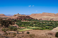 AIT BEN HADDOU, MOROCCO - CIRCA APRIL 2017: View of the Ksar Ait Ben Haddou