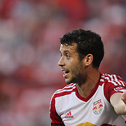 Felipe Martins, New York Red Bulls, during the New York Red Bulls Vs NYCFC, MLS regular season match at Red Bull Arena, Harrison, New Jersey. USA. 10th May 2015. Photo Tim Clayton