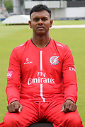 Shivnarine Chanderpaul during the Lancashire County Cricket Club T20 Media Day at the Emirates, Old Trafford, Manchester, United Kingdom on 1 June 2018. Picture by George Franks.