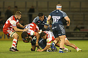 J Hohneck  during the Aviva Premiership match between Sale Sharks and Gloucester Rugby at the AJ Bell Stadium, Eccles, United Kingdom on 29 September 2017. Photo by George Franks.