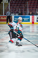 KELOWNA, CANADA - JANUARY 3: James Hilsendager #2 of the Kelowna Rockets warms up against the Tri-City Americans on January 3, 2017 at Prospera Place in Kelowna, British Columbia, Canada.  (Photo by Marissa Baecker/Shoot the Breeze)  *** Local Caption ***