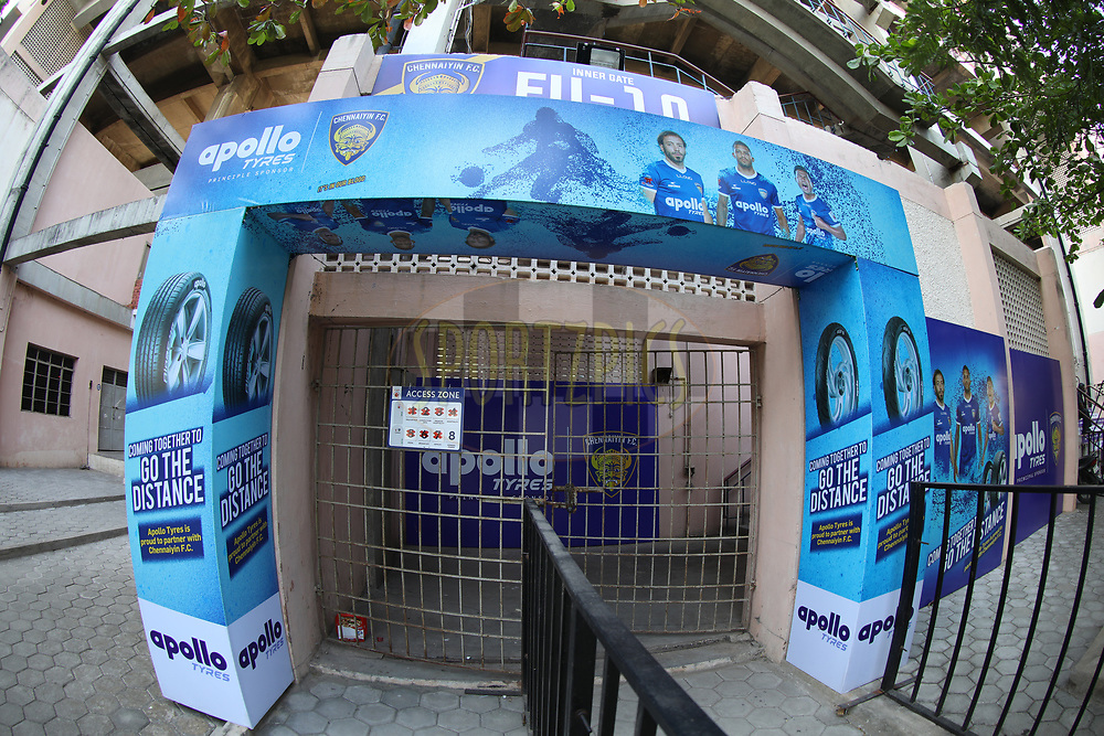 Branding during match 41 of the Hero Indian Super League between Chennaiyin FC and Delhi Dynamos FC   held at the Jawaharlal Nehru Stadium, Chennai India on the 7th January 2018<br /> <br /> Photo by: Arjun Singh  / ISL / SPORTZPICS
