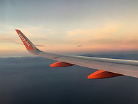 Easyjet A300 Series aircraft en route Belfast-Malaga, March, 2019, 201903043149.<br />