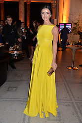 LUCY MECKLENBURGH at the inaugural dinner for The Queen Elizabeth Scholarship Trust hosted by Viscount Linley at the V&A museum, London on 25th February 2016.