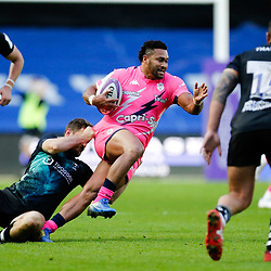 Stade's Lester Etien attack's during the European Rugby Challenge Cup, Pool 4 match between Bristol Bears and Stade Francais Paris on December 7, 2019 in Bristol, United Kingdom. (Photo by Richard Lane/Icon Sport) - Ashton Gate - Bristol (Angleterre)
