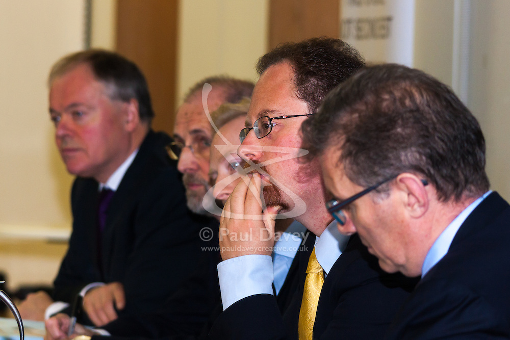 Portcullis House, Westminster, London, January 14th 2014. Members of the Residential Landlords Association attend the launch of their Policy Manifesto and hear views from MPs. PICTURED: Julian Hubbert MP listens to a question from the audience.