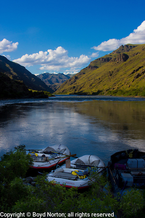 Hells Canyon, Snake River, deepest gorge in North America (7900 feet), forms the border of Idaho and Oregon. Photogrpher Norton led the fight to stop a major dam in the 1960s that would have flooded this gorge.
