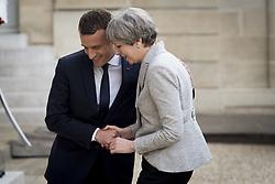 June 13, 2017 - Paris, France, France - Emmanuel Macron - president de la Republique.Theresa May - Premiere ministre du Royaume Uni (Credit Image: © Panoramic via ZUMA Press)