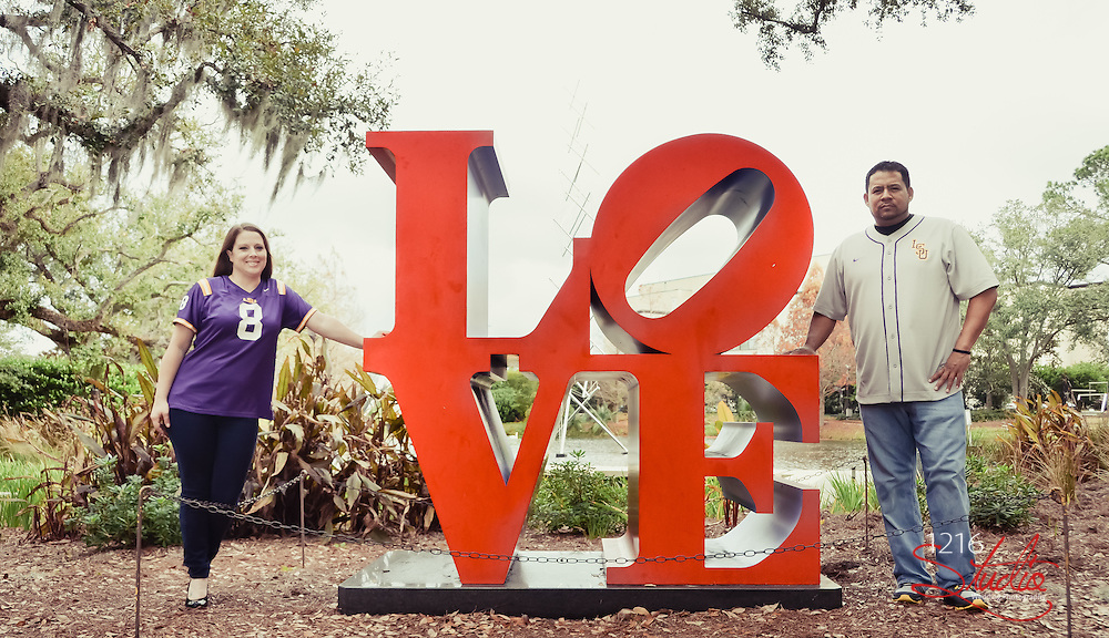Rene & Lacey Engagement Album | City Park New Orleans December 2013 | 1216 Studio New Orleans Wedding Photographers