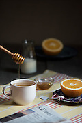Tea with milk and honey by Rodney Bedsole, a food photographer based in Nashville and New York City.