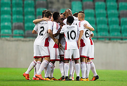 Players of Trencin celebrate after scoring second goal during 1st Leg football match between NK Olimpija Ljubljana (SLO) and FK AS Trenčin (SVK) in Second Qualifying Round of UEFA Champions League 2016/17, on July 13, 2016 in SRC Stozice, Ljubljana, Slovenia. Photo by Vid Ponikvar / Sportida