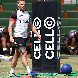 DURBAN, SOUTH AFRICA - JANUARY 19: Cameron Wright during the Cell C Sharks training session at Growthpoint Kings Park on January 19, 2018 in Durban, South Africa. (Photo by Steve Haag/Gallo Images)