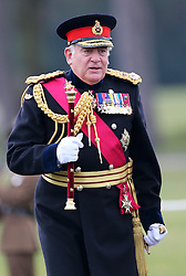 Field Marshall The Lord Guthrie arriving at  the Sovereign's Parade at the Royal Military Academy, Sandhurst, United Kingdom, Friday, 13th December 2013. Picture by Stephen Lock / i-Images