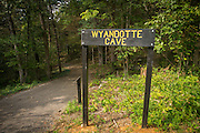 Wyandotte cave, part of O'Bannon Woods State Park in Indiana, home to endangered Indiana bats (Myotis sodalis).