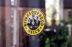 Sticker promoting local Neighbourhood watch scheme,