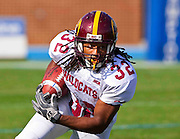 Bethune-Cookman running back Isidore Jackson rushed for 60 yards on 22 carries and scored the go ahead touchdown as the Wildcats spoiled Hampton's Homecoming with a 23 - 18 victory at Armstrong Stadium in Hampton, Virginia.  (Photo by Mark W. Sutton)