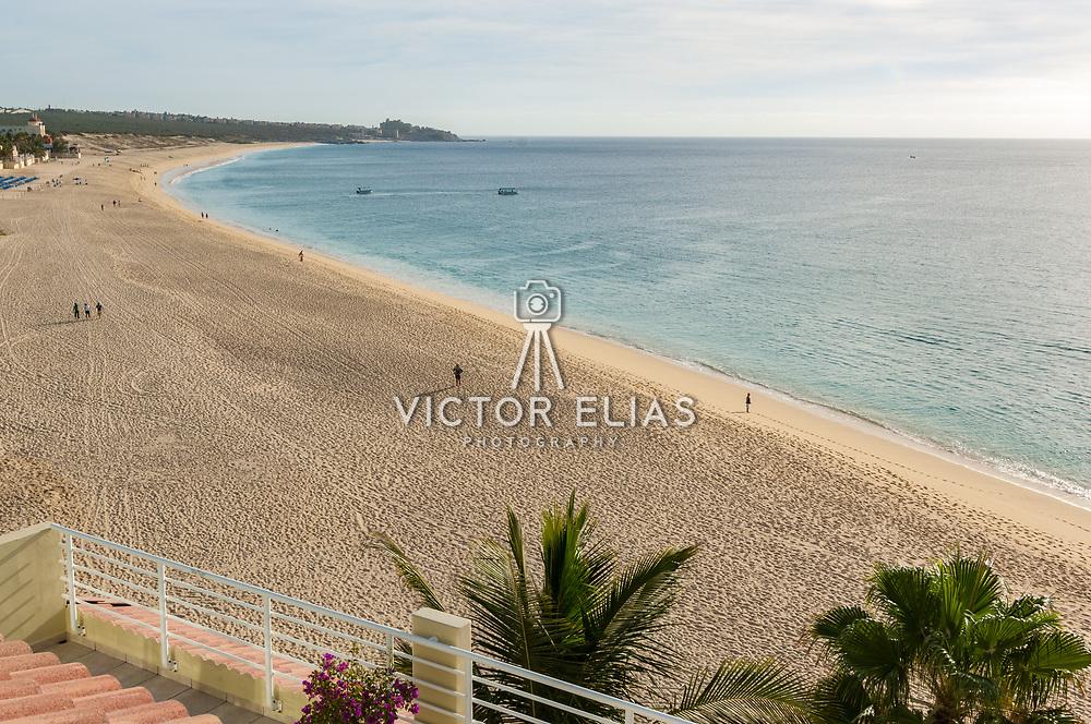 View of the beach from Villa del Palmar hotel in Cabo San Lucas. Baja California, Mexico.