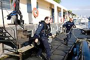 Paris, France. 2 Mai 2009..Brigade Fluviale de Paris...Paris, France. May 2nd 2009..Paris fluvial squad...