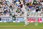 Virat Kohli (captain) of India faces the first ball after lunch from Ben Stokes of England during second day of the Specsavers International Test Match 2018 match between England and India at Edgbaston, Birmingham, United Kingdom on 2 August 2018. Picture by Graham Hunt.