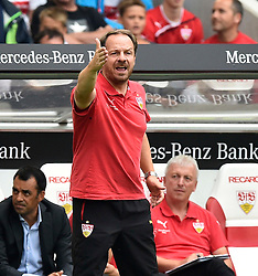 16.08.2015, Mercedes Benz Arena, Stuttgart, GER, 1. FBL, VfB Stuttgart vs 1. FC Koeln, 1. Runde, im Bild Trainer Coach Alexander Zorniger VfB Stuttgart am Spielfeldrand <br />