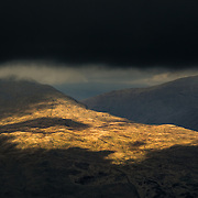 Passing light over Strathfillan from Beinn Dubhchraig