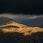 Passing light over Strathfillan from Beinn Dubhchraig