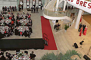 The scene is set for the Red Dress Extravaganza during welcoming remarks at the 2007 Wellness Connection Red Dress Gala, at the Schuster Performing Arts Center in Dayton, Saturday night, May 5th.