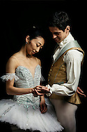 Ballet dancers and Husband and Wife, Federico Bonelli and Hikaru Kobayashi photographed by Greg Funnell at the Royal Opera House, London, 10th January 2017.
