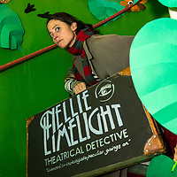 Nellie Limelight by WARWICK ;<br /> Directed by Joy Forsythe ;<br /> Florence Leon as Nellie Limelight ;<br /> Karl Williams ;<br /> Theatre Royal, Brighton, UK ;<br /> 20th December 2018 ;<br /> © Pete Jones<br /> pete@pjproductions.co.uk