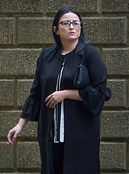 © Licensed to London News Pictures. 09/10/2017. London, UK. Danyelle Davis is seen at Croydon Crown Court for trial over an attack on asylum seeker Reker Ahmed, 17  in Shrublands, Croydon in March 2017. Photo credit: Peter Macdiarmid/LNP