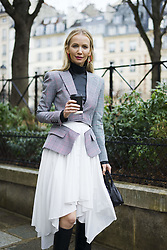 March 4, 2018 - Paris, France - Street Style With Tatiana Korsakova At The Givenchy Show During Paris Fashion Week on March 4, 2018 in Paris, France. (Credit Image: © Nataliya Petrova/NurPhoto via ZUMA Press)