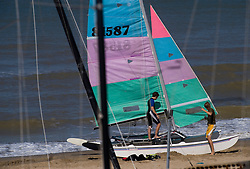 Preparing to set sail in De Haan, Belgium, Sunday, Sept. 14, 2008. (Photo © Jock Fistick)