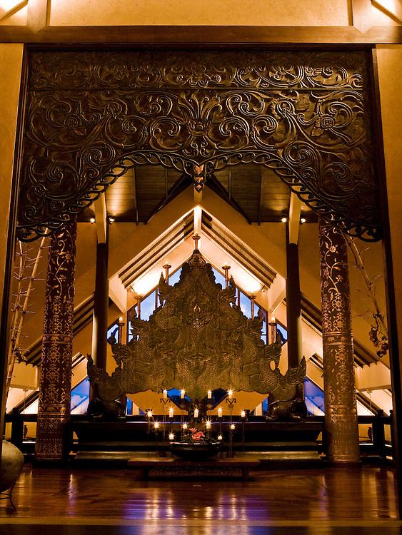 Entrance to Anantara Golden Triangle resort.