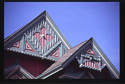 Roof of Ann Starrett Mansion, Port Townsend, Washington, US