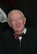Washington,DC 12/5/03.Supreme Court Justice John Paul Stevens during the official photo session of the Supreme Court.  Photo by Dennis Brack