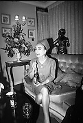 Joan Crawford Press Conference at the Gresham Hotel. Joan Crawford, a director of Pepsi Cola, is in Dublin with Mr. Len Leech, the company's Vice-President for the Northern European Division, for meetings with Pepsi's bottlers in Ireland to discuss new plans for expansion in 1967. .14.12.1966