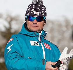 13.01.2012, Pista Olympia delle Tofane, Cortina, ITA, FIS Weltcup Ski Alpin, Damen, Abfahrt, 2. Training, im Bild ÖSV Damen Cheftrainer Herbert mandl (AUT) // OeSV ladies headcoach Herbert Mandl of Austria before ladies downhill 2nd training of FIS Ski Alpine World Cup at 'Pista Olympia delle Tofane' course in Cortina, Italy on 2012/01/13. EXPA Pictures © 2012, PhotoCredit: EXPA/ Johann Groder