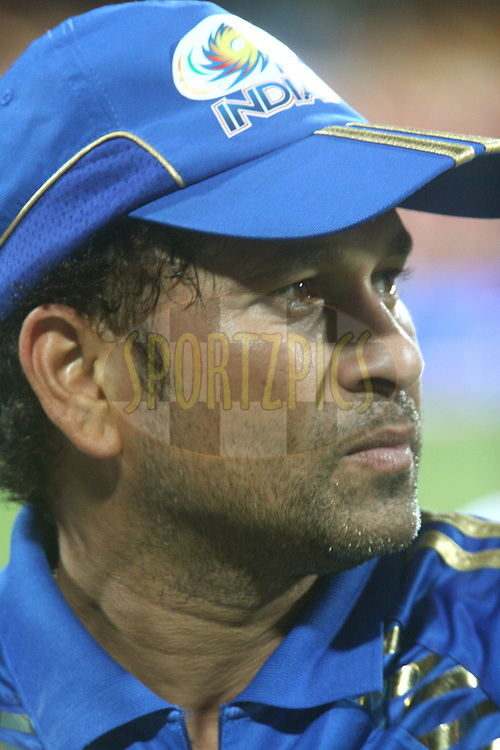 Sachin Tendulkar during the award ceremony after the match 8 of the the Indian Premier League ( IPL ) Season 4 between the Royal Challengers Bangalore and the Mumbai Indians held at the Chinnaswamy Stadium, Bangalore, Karnataka, India on the 12th April 2011..Photo by Vino John/BCCI/SPORTZPICS