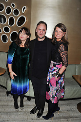Left to right, ALEXANDRA SHULMAN, NICHOLAS KIRKWOOD and NATALIE MASSENET at the Designer Fashion Fund Award hosted by The British Fashion Council and Vogue at Nobu Berkeley, 15 Berkeley Street, London on 29th January 2013.