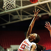 South Alabama's guard, Mary Nixon (23), shoots the ball in the first half of play in Mobile, AL. Denver leads South Alabama 21-19 at halftime...