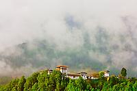 Jakar Dzong monastery fortress,  Bumthang Valley, Bhutan