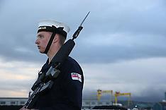 Belfast: Nato warships dock in Belfast, 4 Nov. 2016